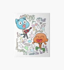 Nobody's A Nobody Gumball and Darwin Art Board Print