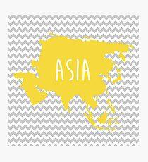 Asia Chevron Continent Series Photographic Print