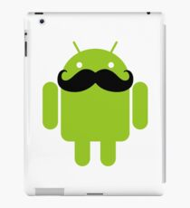Mustache Android Robot iPad Case/Skin