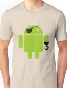 Pirate Android Robot Unisex T-Shirt