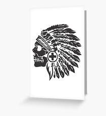 Native Headdress and skull Greeting Card