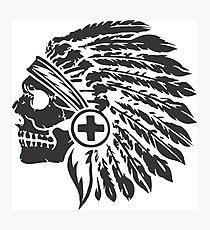 Native Headdress and skull Photographic Print