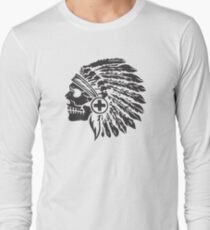 Native Headdress and skull T-Shirt