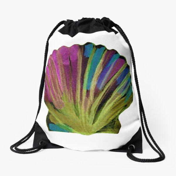 Colourful sea shell, scallop shell Drawstring Bag