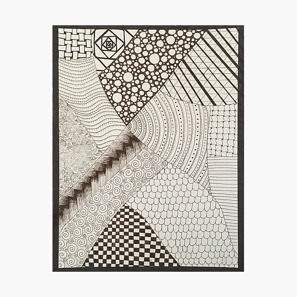 Zentangle 1 Photographic Print