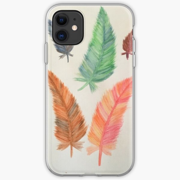 Rainbow Feathers iPhone Soft Case