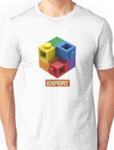 'Expert' Builder T-Shirt Featuring a Brick Built Rainbow Puzzle Unisex T-Shirt