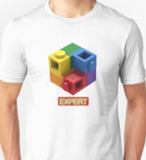 'Expert' Builder T-Shirt Featuring a Brick Built Rainbow Puzzle Unisex T-Shirt
