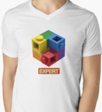 'Expert' Builder T-Shirt Featuring a Brick Built Rainbow Puzzle T-Shirt
