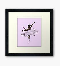 Cute Purple Dance Ballerina Princess 2 Framed Print