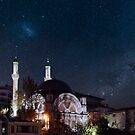 Exotic night sky in Istanbul  by Nancy Richard