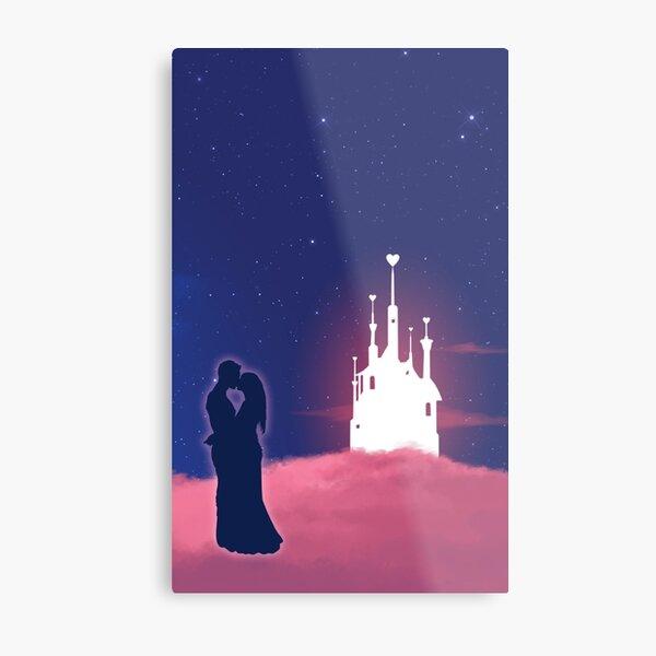 Romantic couple kissing Metal Print