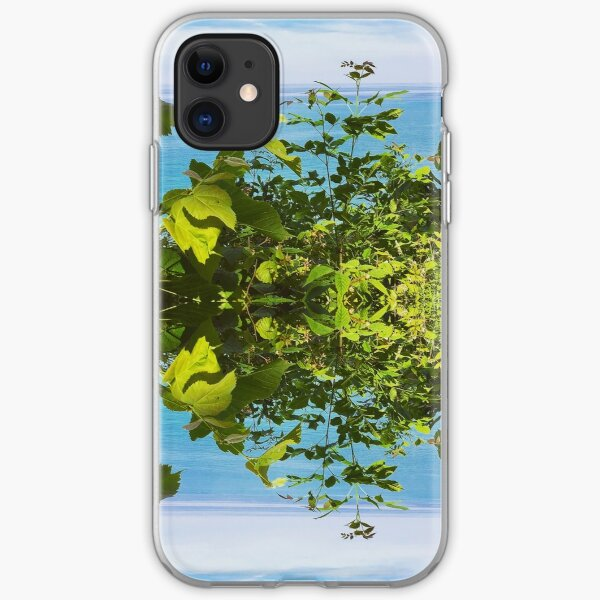 Reflected plants : growth iPhone Soft Case