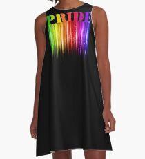 Regenbogen-Schein-Stolz-Kunst, LGBTQ Stolz A-Linien Kleid