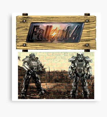 Fallout painting mixed media canvas prints redbubble for Fallout 4 canvas painting