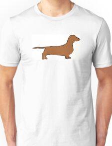 dachshund color silhouette Unisex T-Shirt