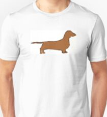dachshund color silhouette T-Shirt