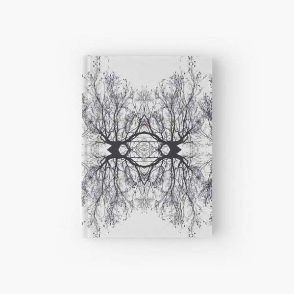 Abstract Tree Reflection Hardcover Journal