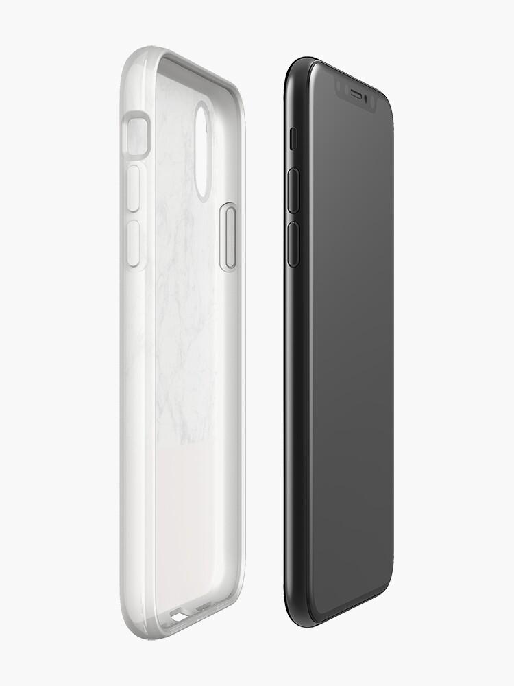 Alternative Ansicht von Weißer Marmor auf Roségold iPhone-Hüllen & Cover