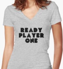 Ready Player One Symbol Women's Fitted V-Neck T-Shirt