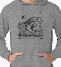 Medieval Monster Chases Wasp Lightweight Hoodie