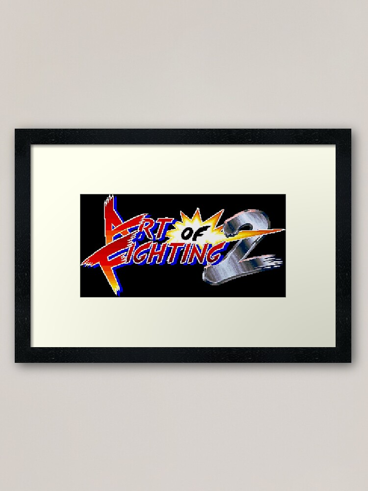 Art Of Fighting 2 Neo Geo Title Screen Framed Art Print By