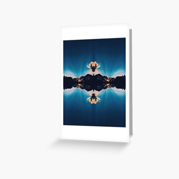 Sunrise and Clouds in an Abstract Reflection Greeting Card