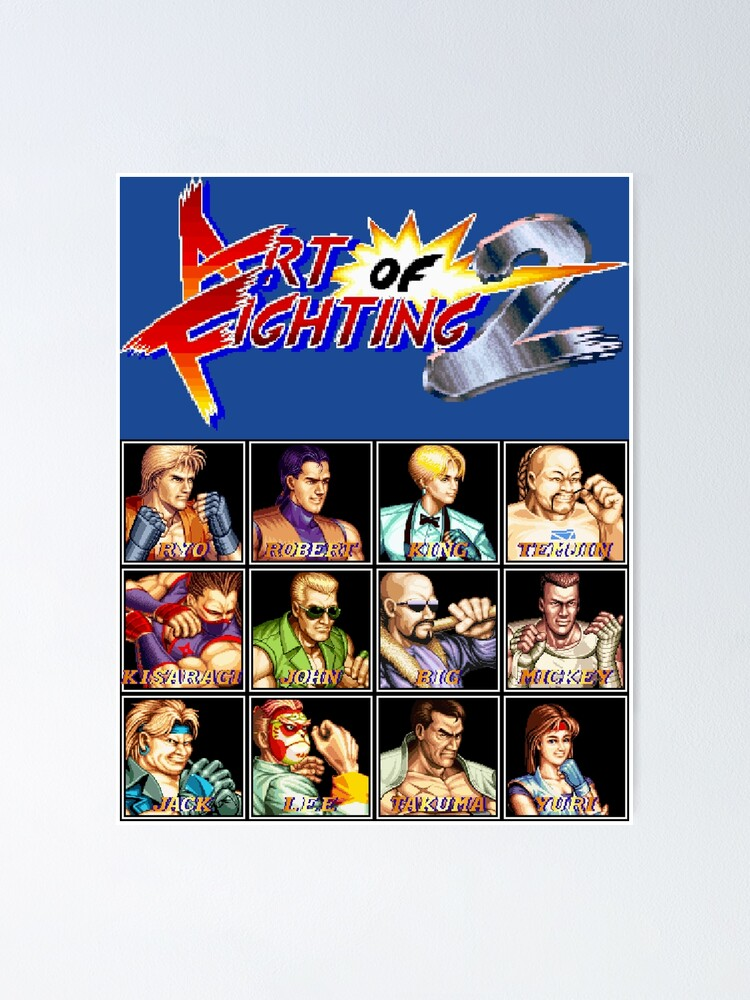 Art Of Fighting 2 Neo Geo Character Lineup Poster By