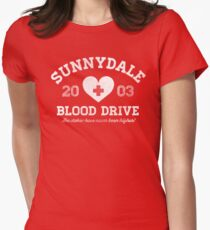 Sunnydale Blood Drive Women's Fitted T-Shirt