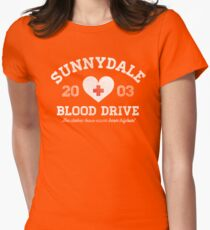 Sunnydale Blood Drive Womens Fitted T-Shirt