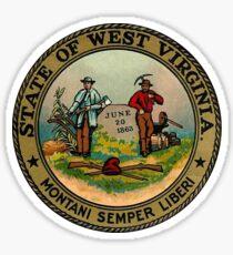 West Virginia WV State Vintage Travel Decal Sticker