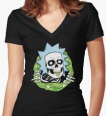 BURPS Ripper Women's Fitted V-Neck T-Shirt