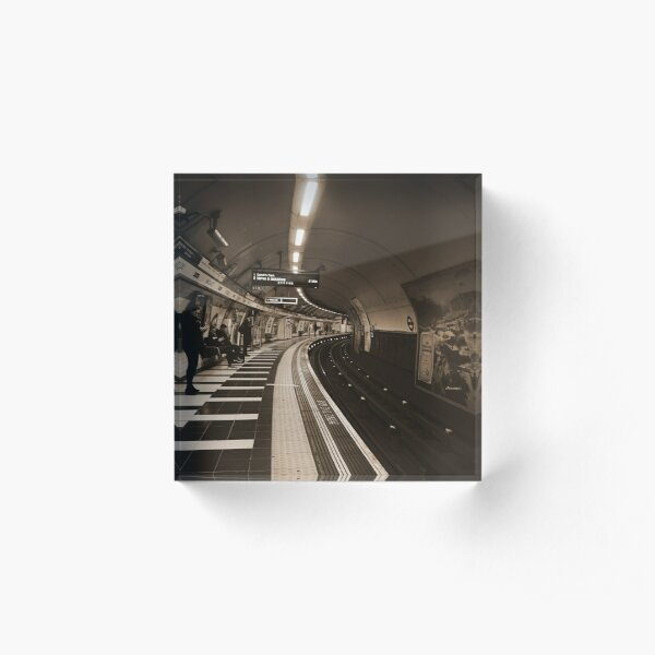 The Art of London Underground - Bakerloo Line at Waterloo Station Acrylic Block