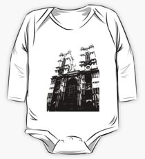 Westminster Abbey Pen and Ink,  London, England, UK One Piece - Long Sleeve