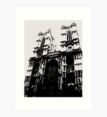 Westminster Abbey Pen and Ink,  London, England, UK Art Print