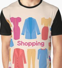 Shopping and Beauty Set in Flat Design Graphic T-Shirt