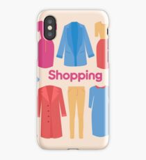 Shopping and Beauty Set in Flat Design iPhone Case