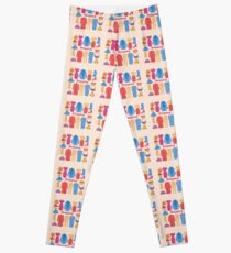 Shopping and Beauty Set in Flat Design Leggings