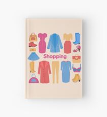 Shopping and Beauty Set in Flat Design Hardcover Journal