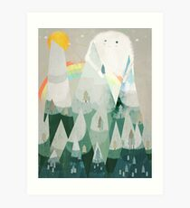 the rainbow critter Art Print