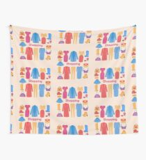 Shopping and Beauty Set in Flat Design Wall Tapestry