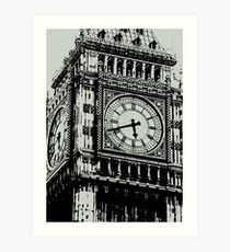 Big Ben Face - Palace of Westminster, London  Art Print