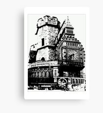 London Composite Pen and Ink Canvas Print