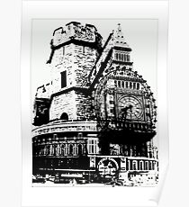 London Composite Pen and Ink Poster