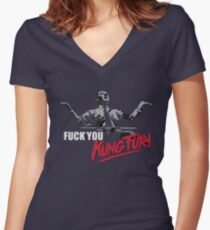 Fuck You Kung Fury Women's Fitted V-Neck T-Shirt