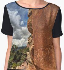 McConkie Ranch Petroglyphs - Dry Fork Canyon - Vernal - Utah Chiffon Top