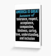 Womens March on Washington - America is Great Because... Greeting Card