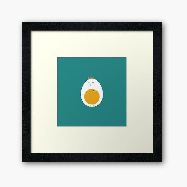 History of egg Framed Art Print