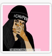 Chup Kar Beanie Girl  Sticker