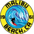 Surfer MALIBU BEACH California Surfing Surfboard Waves Ocean Beach Vacation by MyHandmadeSigns
